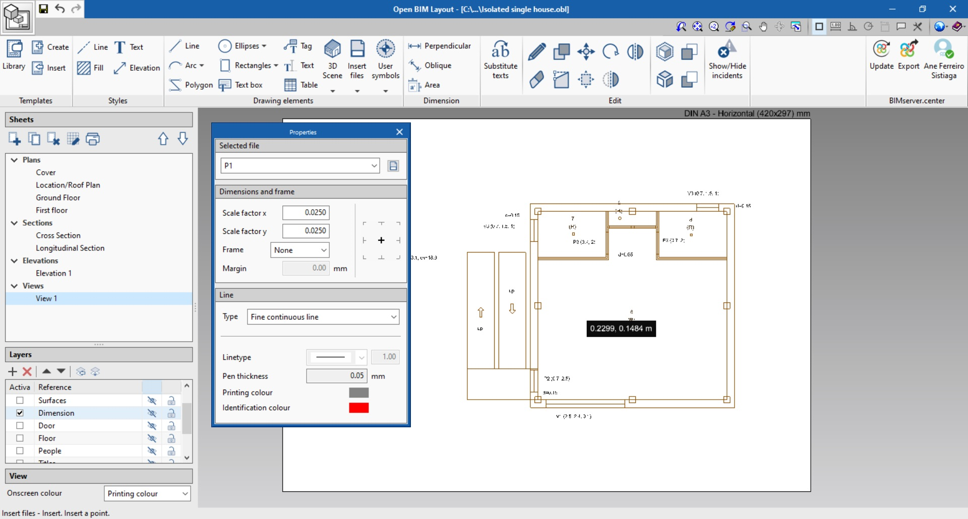 Open BIM Layout. How to insert files