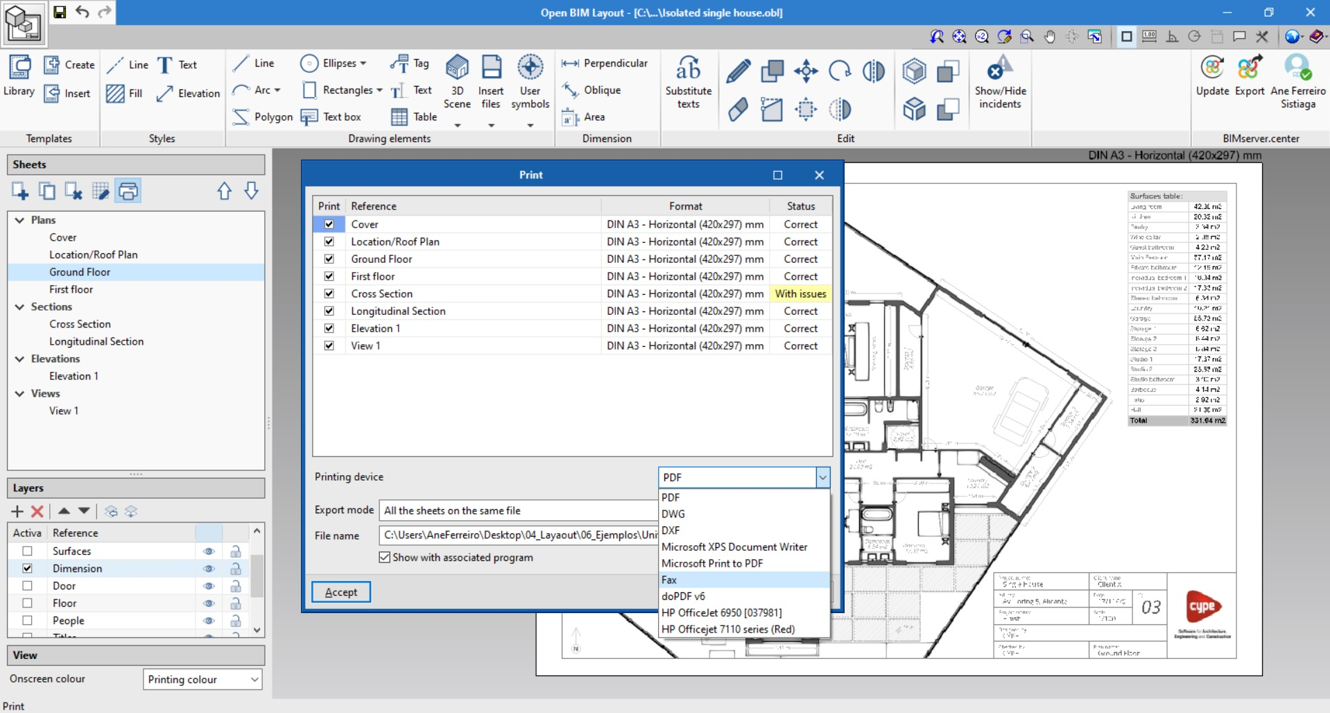 Open BIM Layout. How to print with Open BIM Layout